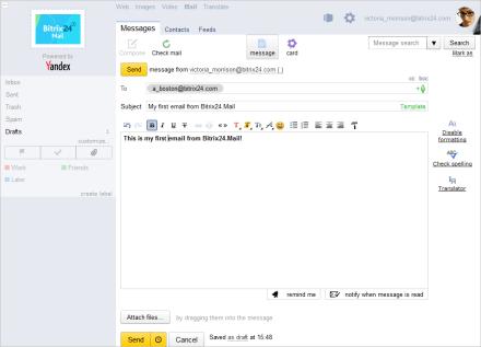 gửi email trên bitrix24