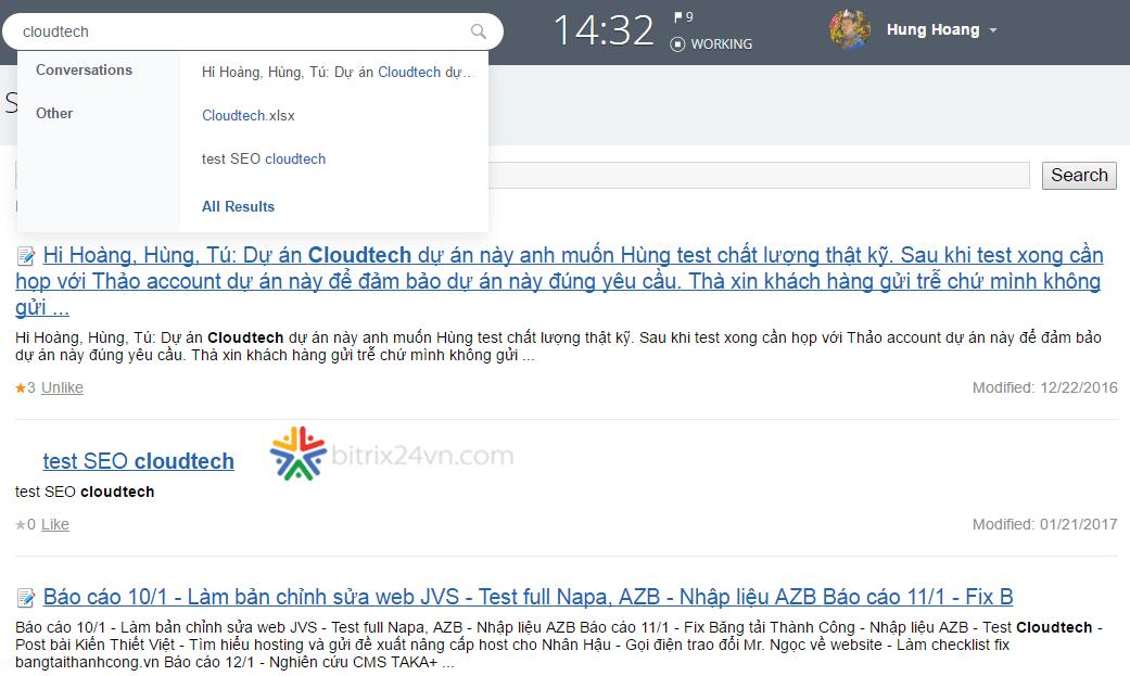 quản lý tài liệu trên bitrix24
