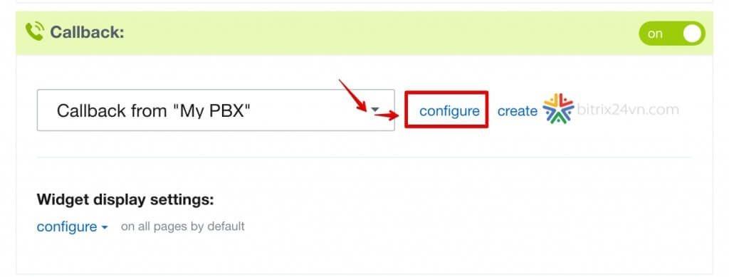 cấu hình form callback trên bitrix24