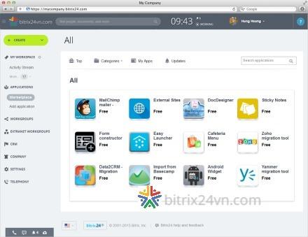ứng dụng app trên bitrix24