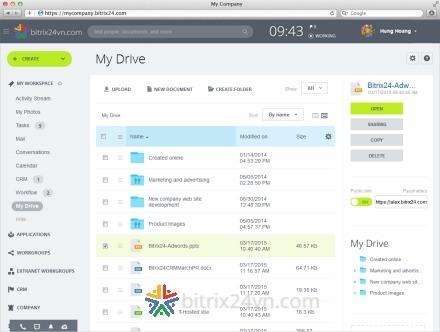 lưu trữ tài liệu trên bitrix24