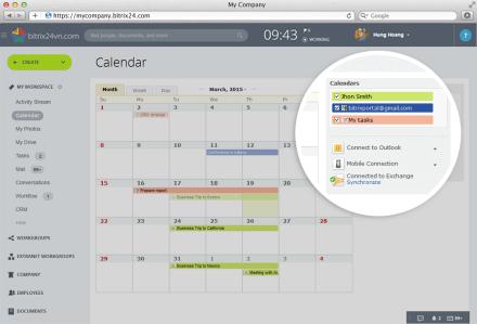 lịch làm việc bitrix24