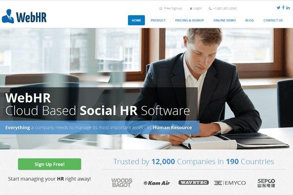 phần mềm nhân sự webHR