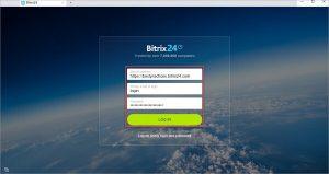 Giao diện đăng nhập tài khoản Bitrix24 trên máy tính.