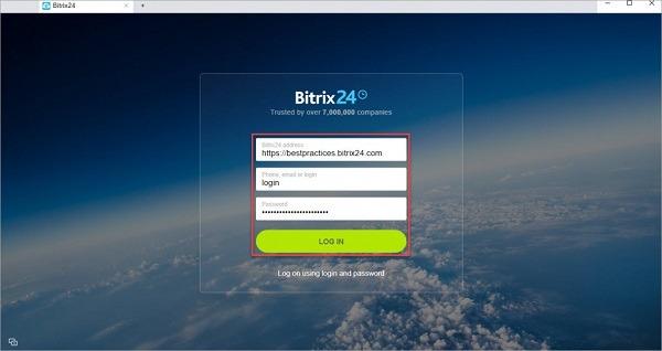 Giao diện chính của Bitrix24 trên Desktop