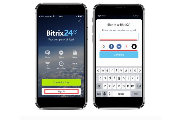 Tải phần mềm Bitrix24 và cài đặt trên điện thoại.