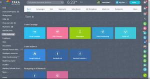 Giao diện hiển thị phần mềm Bitrix24 ở tầng makerting