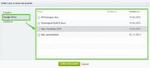 Đăng nhập vào tài khoản Google Drive chọn tệp cần tải lên.
