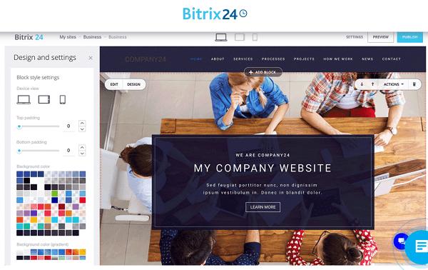Có thể thiết kế miễn phí một landing page ngay trên hệ thống Bitrix24