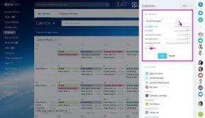 Người dùng có thể cài đặt quyền truy cập cho lịch Bitrix24 của mình