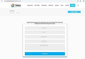Bitrix24 CRM Form chạy trên trang web TAKA