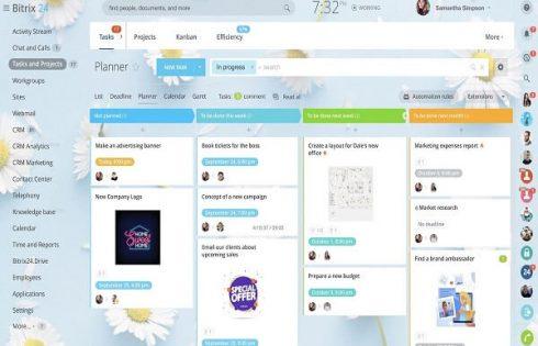 Bitrix24 Task Management, giúp người dùng lập kế hoạch và quản lý công việc.